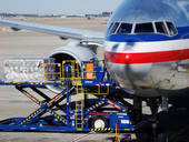 Airfreight Being Loaded into Plane