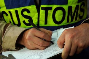 Customs Officer Conducting a Clearance
