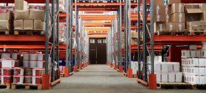 Fully Stocked Orange Warehouse