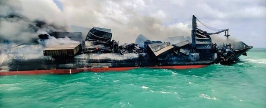 Sri Lanka faces 'worst beach pollution' in history from burning cargo ship